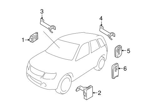 Keyless Entry Components for 2011 Suzuki Grand Vitara