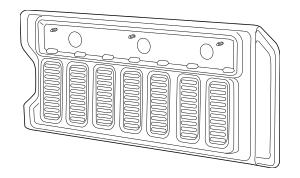 2018-2019 Jeep Wrangler Gate Trim Panel 6BM40TX7AB
