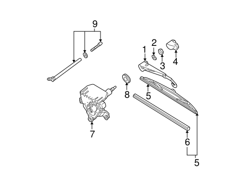 Wiper & Washer Components for 2000 Mercedes-Benz ML 430