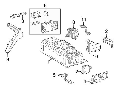 Genuine OEM Battery Parts for 2015 Toyota Camry Hybrid SE