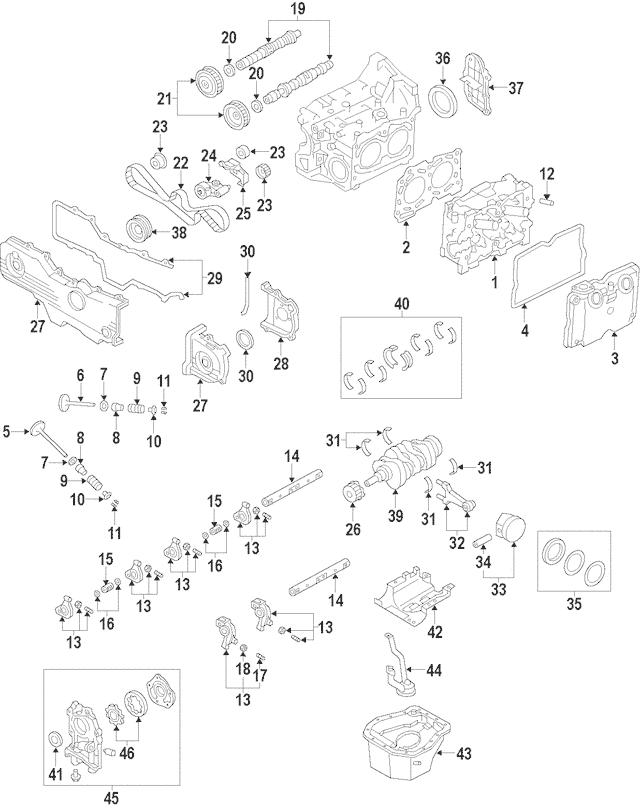 2000-2001 Subaru Outback Cylinder Block 11008AA640