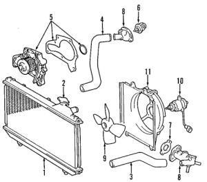 OEM Thermostat Housing for 2000 Toyota RAV4|1632103060 : Toyota Parts Online | Olathe Toyota