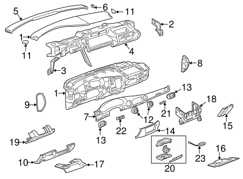 Instrument Panel Components Parts for 2000 Buick Regal