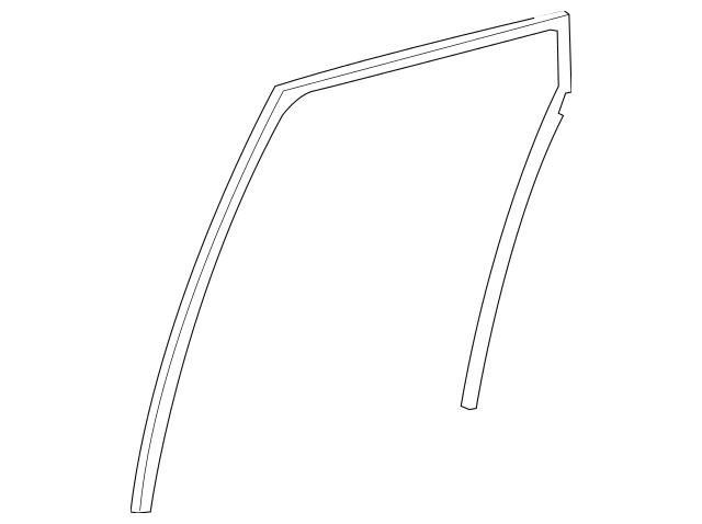 2007-2012 Acura RDX 5-DOOR Channel, R Rear Door Run 72735