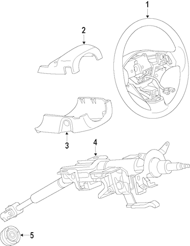 STEERING COLUMN for 2010 Ford Fusion