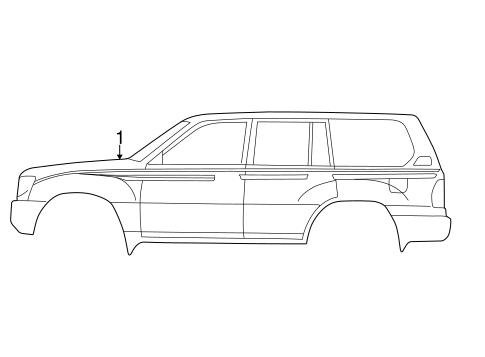 Genuine OEM Stripe Tape Parts for 2003 Toyota Land Cruiser