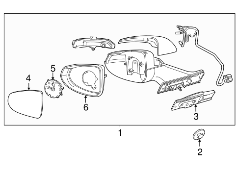OEM 2012 Chevrolet Volt Outside Mirrors Parts
