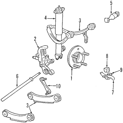 OEM 2002 Lincoln Continental Rear Suspension Parts