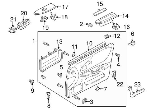 Mazda Protege Door Lock, Mazda, Free Engine Image For User