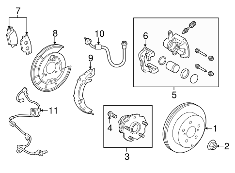 Genuine OEM Brake Components Parts for 2013 Toyota RAV4