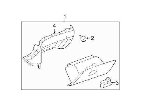 GLOVE BOX Parts for 2011 Chevrolet Malibu