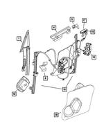 2003-2017 Dodge Viper Front Door Window Regulator, Left