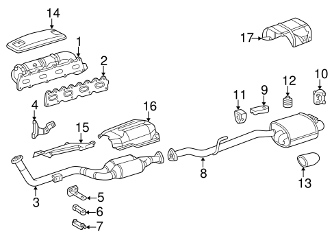Exhaust Components for 2004 Mercedes-Benz SLK 230