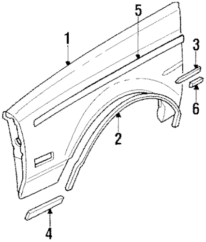 Buy OEM Fender for 1987 Buick Regal at discounted prices