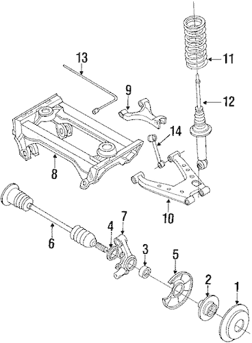 REAR SUSPENSION for 1992 Mazda Miata