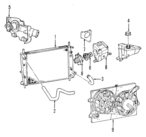 COOLING SYSTEM for 1997 Ford Contour