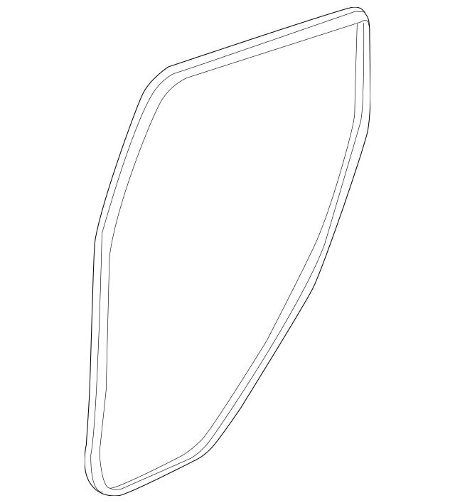 2016-2020 Honda HR-V 5-DOOR Seal, Rear (Inner) 72815-T7W