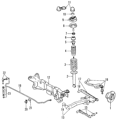 REAR SUSPENSION for 1992 Mitsubishi 3000GT