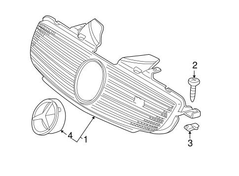 Grille & Components for 1999 Mercedes-Benz SLK 230