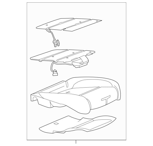 Pad Center Seat Cushion