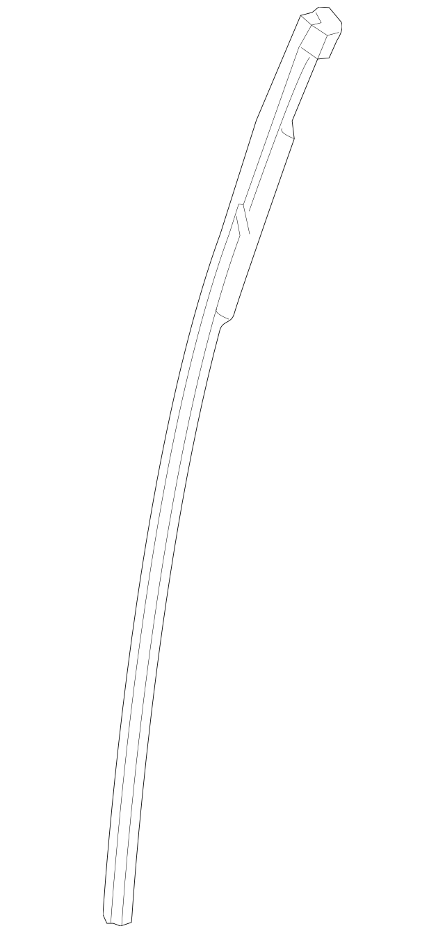 Genuine Honda Sash, R Rear Slide Door 72731-THR-A01