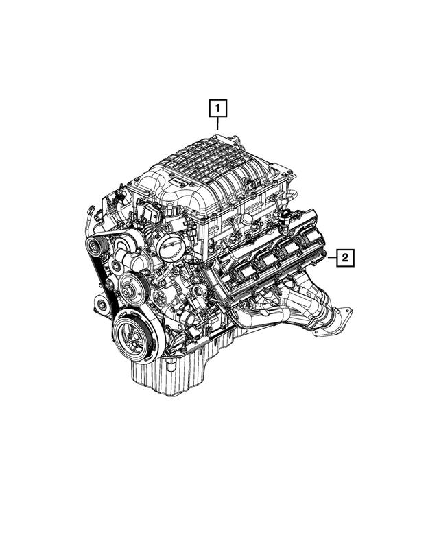 Original Complete Engine for 2015-2020 Dodge Challenger