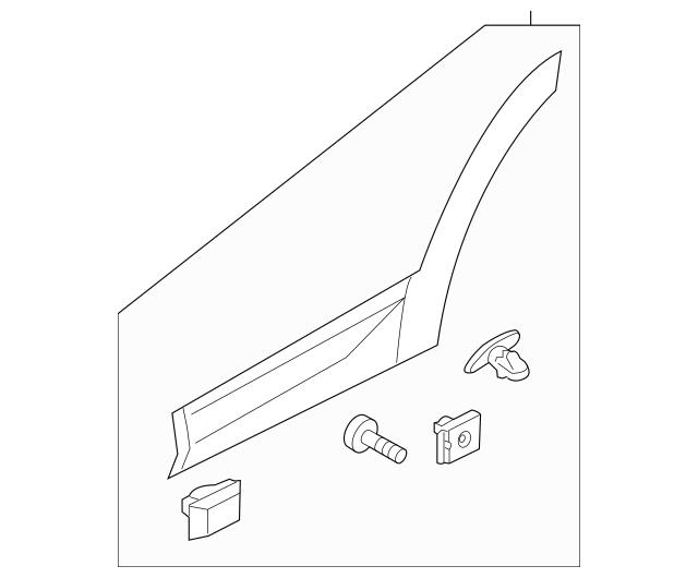 87732-4Z000 Garnish Assembly-rear Door Side Right-hand