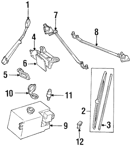 OEM WIPER & WASHER COMPONENTS for 1989 Chevrolet K1500