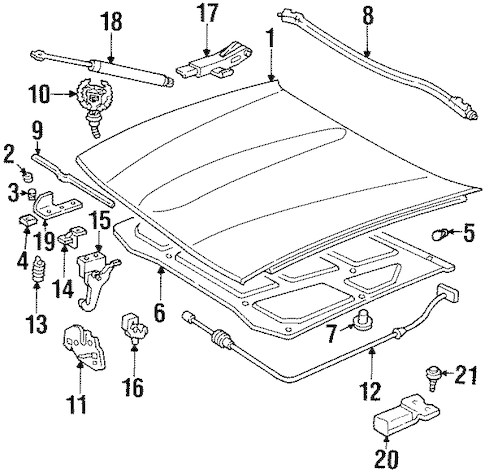Service manual [1994 Cadillac Seville Windshield Latch