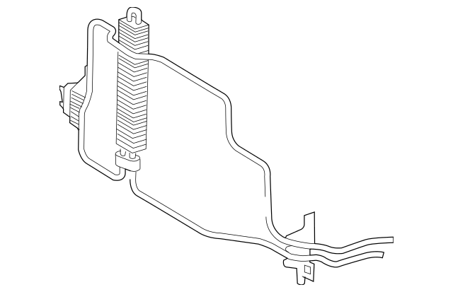 Genuine Mercedes-Benz Power Steering Cooler 211-466-23-24