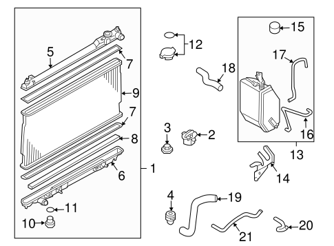 OEM 2004 Nissan 350Z Radiator & Components Parts
