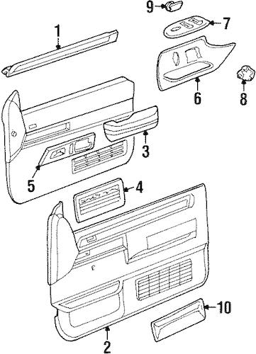 FRONT DOOR Parts for 1989 Chevrolet K1500 Pickup