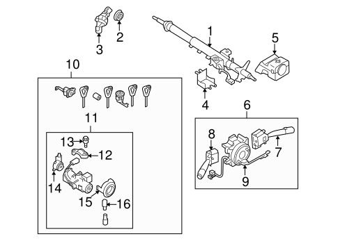 STEERING COLUMN ASSEMBLY for 2009 Subaru Outback