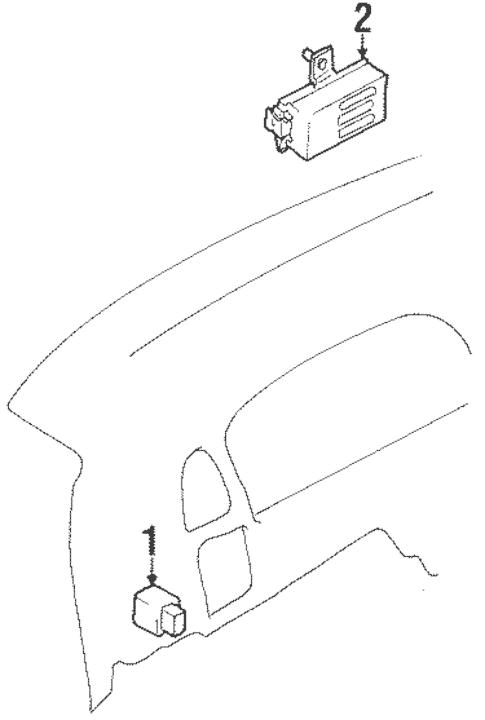 Daytime Running Lamp Components for 1998 Suzuki Esteem