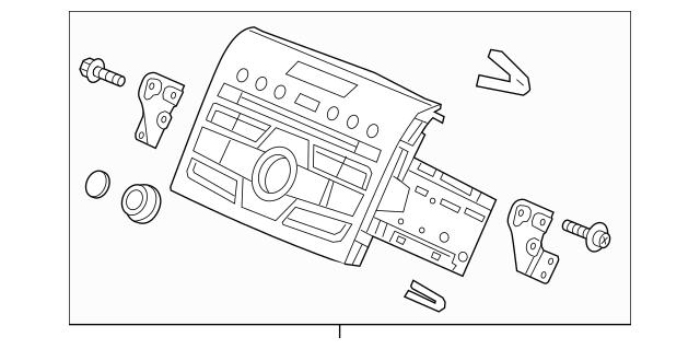 Honda Tuner Assembly, Auto Radio (Panasonic) 39100-T0A-A71