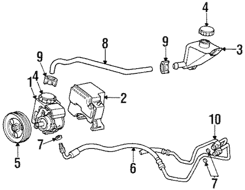PUMP & HOSES for 1998 Buick Riviera