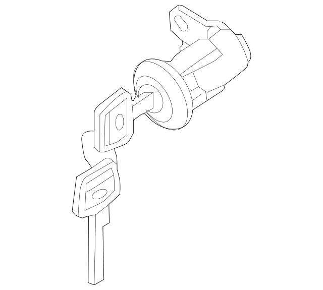 2008-2015 Nissan Titan Cylinder & Keys H4660-7S215