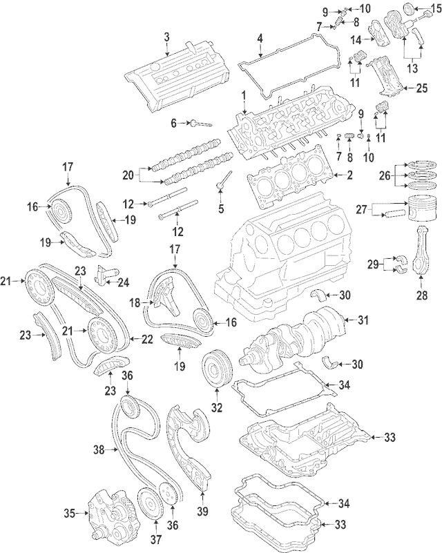 2004-2005 Audi Allroad Quattro Cylinder Head 079-103-064