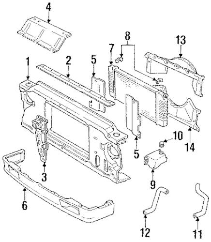 OEM 1994 Oldsmobile Bravada Radiator & Components Parts