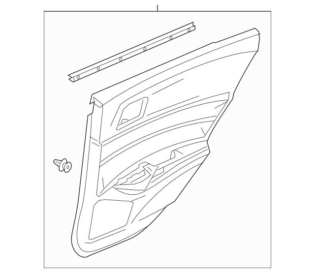 Lining, R Rear Door Assembly (Lower) *YR436L* (Sandstorm
