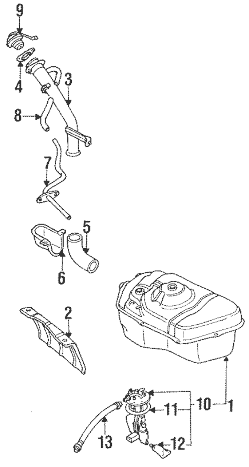 Fuel System Components for 1992 Mitsubishi 3000GT