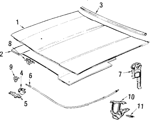 OEM HOOD & COMPONENTS for 1989 Chevrolet Caprice