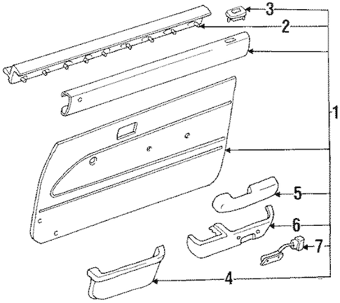 DOOR PANEL for 1994 Toyota 4Runner