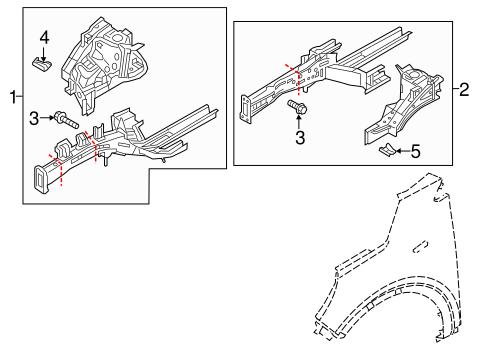 Structural Components & Rails for 2018 Kia Sorento