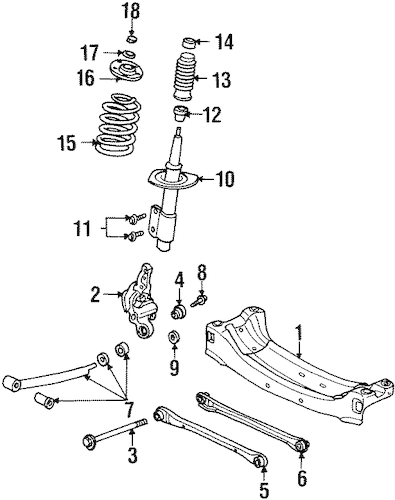 OEM REAR SUSPENSION for 1997 Oldsmobile Cutlass