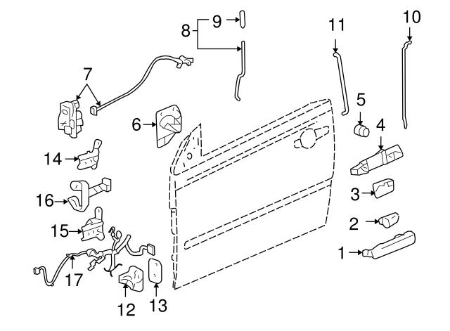 2006-2010 Pontiac G6 Door Lock Actuator Motor 20819383