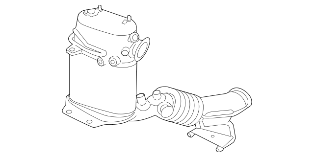 2010-2013 Audi A3 Catalytic Converter 1K0-254-708-GX