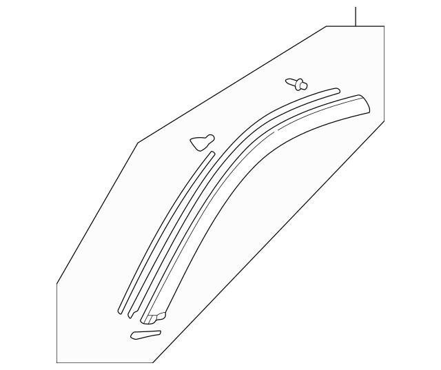 2000-2006 Honda INSIGHT Garnish Assembly, Left(driver-side