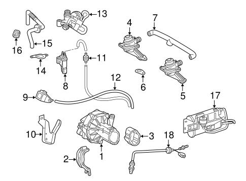 Emission Components for 1998 Mercedes-Benz CLK 320