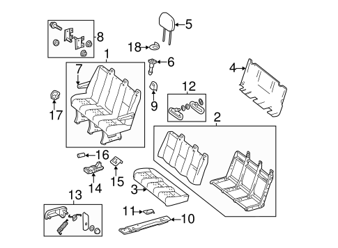 Rear Seat Components for 2010 Mercedes-Benz Sprinter 2500